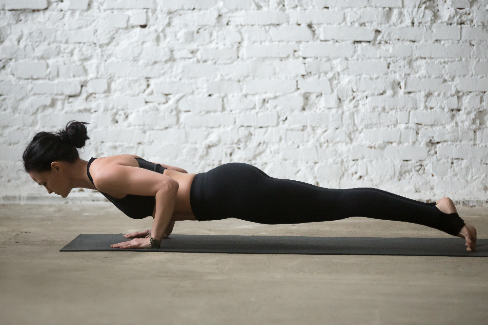 YOGA Chaturanga (four limbed staff pose) 4
