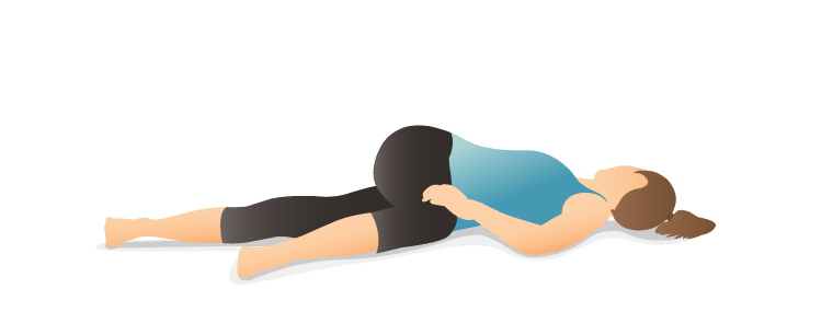 supine spinal twist R